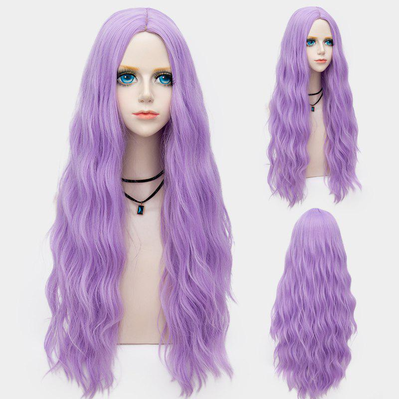 Middle Part Long Fluffy Water Wave Synthetic Party Wig - SUEDE ROSE