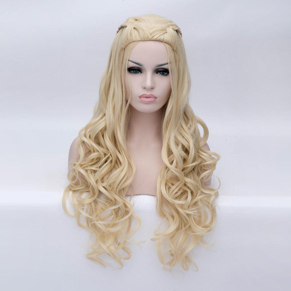 Braided Wavy Long Synthetic Game of Thrones Perruque Cosplay Daenerys Targaryen -