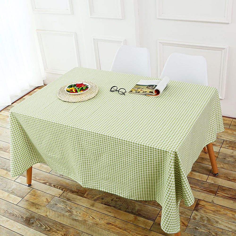 Checked Pattern Linen Table Cloth - GREEN W55 INCH * L71 INCH