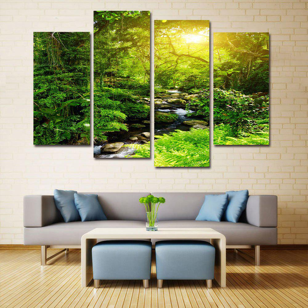 Forest Stream Print Unframed Canvas Paintings maple forest pattern unframed decorative canvas paintings