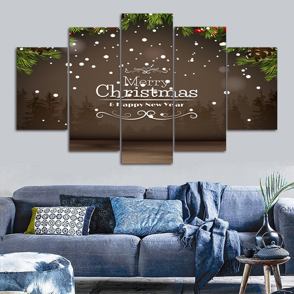 Merry Christmas Print Unframed Canvas Paintings wall art sunset pyramids printed unframed canvas paintings