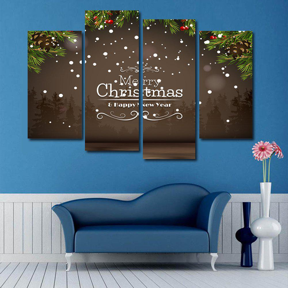 Merry Christmas Print Unframed Canvas Paintings burning guitar pattern unframed wall art canvas paintings