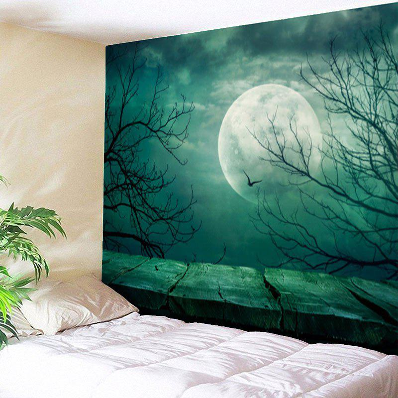 Halloween Moon Tree Branch Wall Art Tapestry the halloween tree