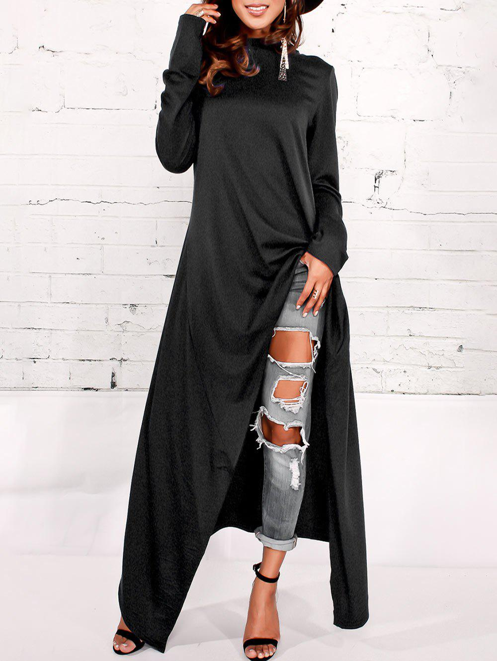 Sweatshirt hoodie maxi dress