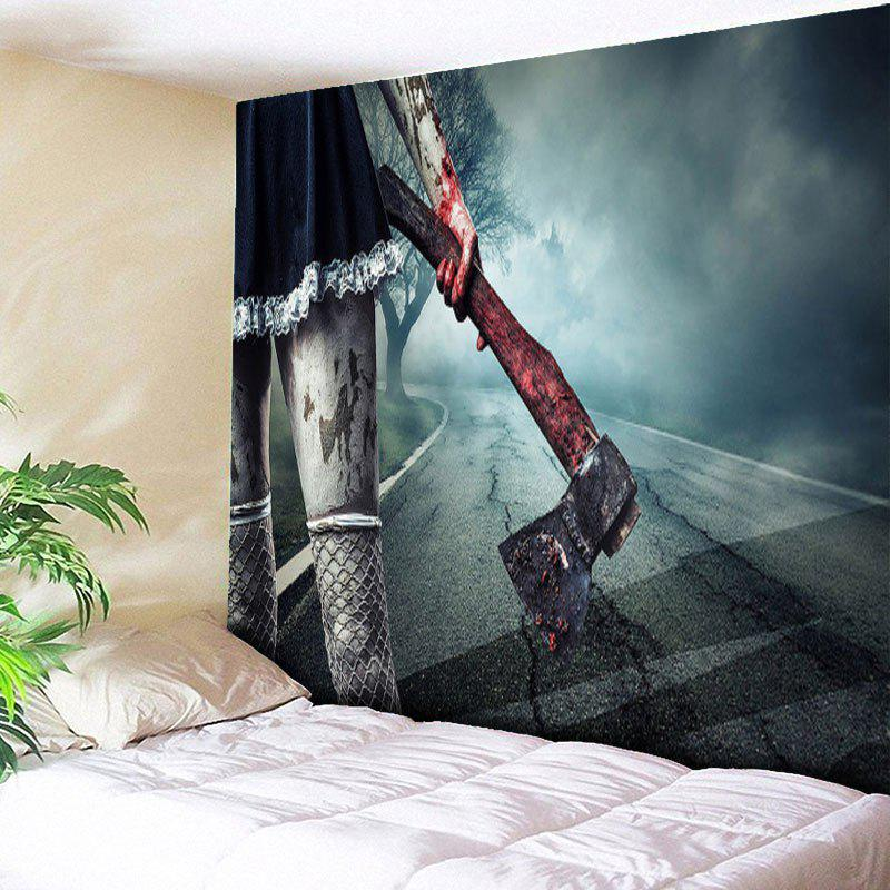bedroom tapestry. Halloween Wall Hanging Zombie Axe Bedroom Tapestry  BLUE GRAY W79 INCH L59 2017