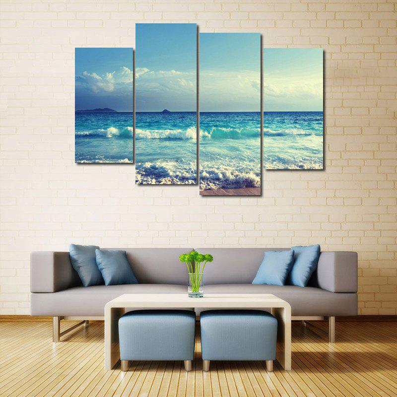 Sea Wave Pattern Unframed Canvas Paintings burning guitar pattern unframed wall art canvas paintings