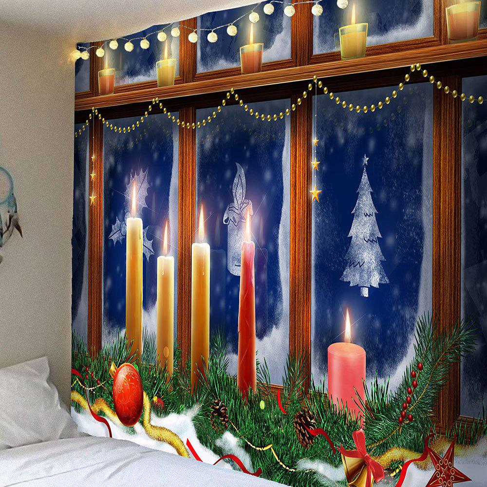 Decorative Window Christmas Candles Patterned Tapestry - COLORFUL W79 INCH * L59 INCH