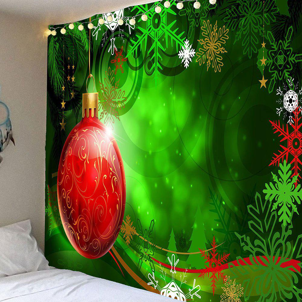 цены Christmas Balloon Snowflake Printed Waterproof Hanging Tapestry