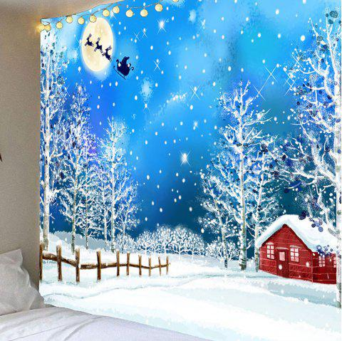 Waterproof Snows and Trees Pattern Christmas Wall Hanging Tapestry - COLORFUL W59 INCH * L59 INCH