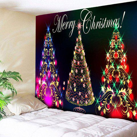 Wall Hanging Christmas Tree Printed Tapestry - COLORFUL W79 INCH * L59 INCH