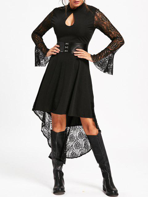 41 Off 2018 Flare Sleeve High Low Semi Formal Dress In Black M