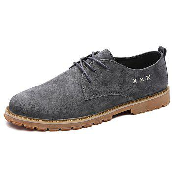 Criss Cross Tie Up Casual Shoes - Gris 39