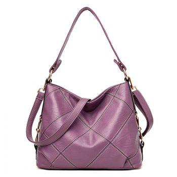 Stitching Quilt Cross Shoulder Bag - PURPLE PURPLE