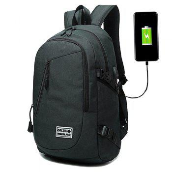 Zips Buckle Strap USB Charging Port Backpack