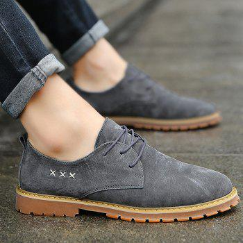 Criss Cross Tie Up Casual Shoes - GRAY 44