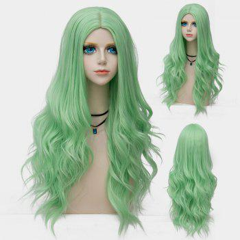 Long Center Parting Layered Wavy Synthetic Party Wig - OASIS OASIS