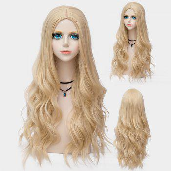 Long Center Parting Layered Wavy Synthetic Party Wig - VENETIAN GOLD VENETIAN GOLD