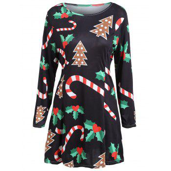 Christmas Long Sleeve Swing Dress