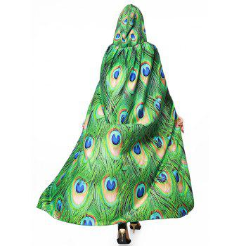 Peacock Feather Printed Magic Cloak