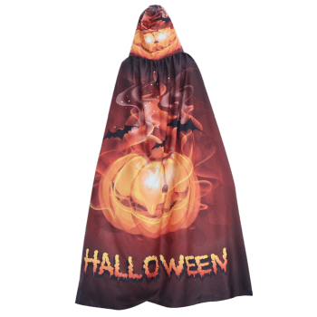 Halloween Printed Magic Cloak - GOLDEN