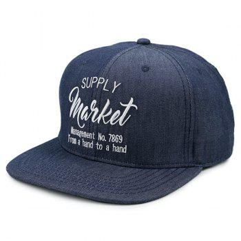 Outdoor Letters Pattern Baseball Hat - DEEP BLUE DEEP BLUE