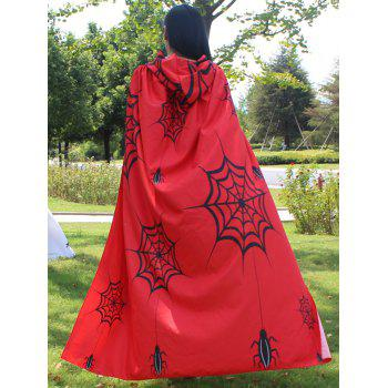 Halloween Printed Magic Cloak -  RED