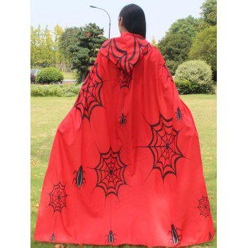 Halloween Printed Magic Cloak - RED RED