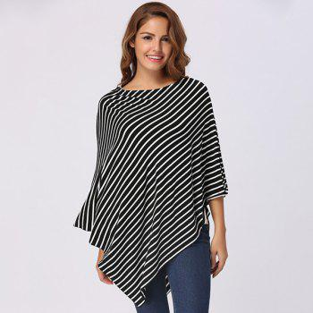 Stripe Printed Nursing Cover - BLACK