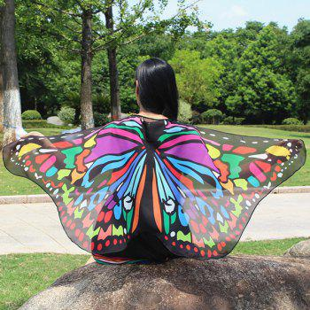 Colorful Butterfly Wings Shape Scarf - COLORFUL COLORFUL