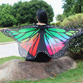 Colorful Butterfly Wings Shape Scarf - COLORFUL GEOMETRIC COLORFUL GEOMETRIC