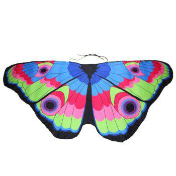 Colorful Butterfly Wings Shape Scarf -  LAKE BLUE