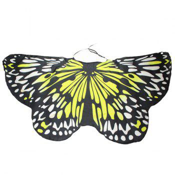 Colorful Butterfly Wings Shape Scarf - YELLOW