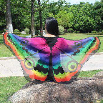 Colorful Butterfly Wings Shape Scarf - GRADUAL PURPLE GRADUAL PURPLE