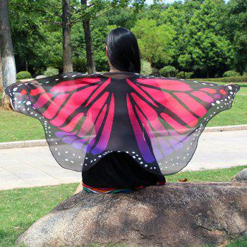 Colorful Butterfly Wings Shape Scarf - TUTTI FRUTTI TUTTI FRUTTI