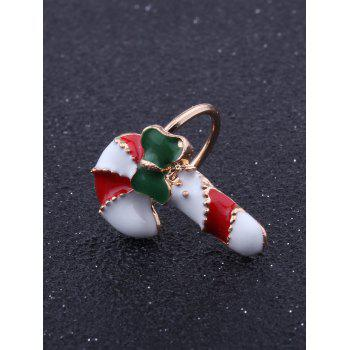 1PC Bows Christmas Candy Cane Ear Cuff - Rouge