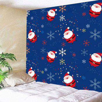 Waterproof Santa Claus and Snows Pattern Wall Hanging Tapestry - COLORFUL W79 INCH * L59 INCH