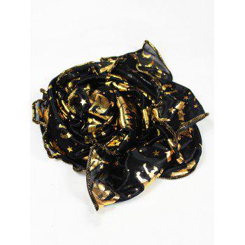 Halloween Bat Pumpkin Witch Stars Gilding Scarf -  BLACK
