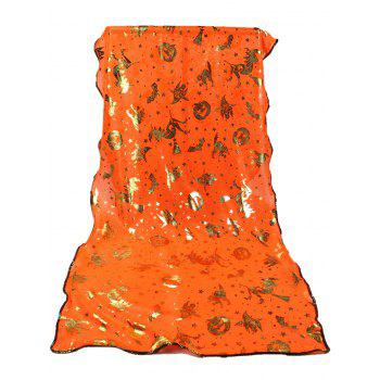Halloween Bat Pumpkin Witch Stars Gilding Scarf -  ORANGE