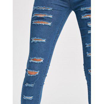Skinny Ladder Distressed Jeans - 2XL 2XL