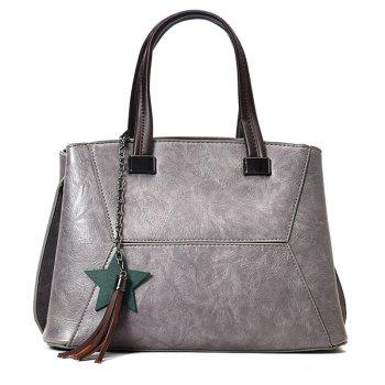 Tassel Pendants Star Handbag - GRAY GRAY