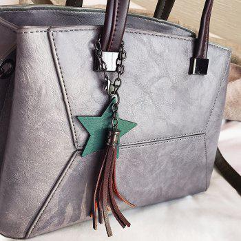 Tassel Pendants Star Handbag -  GRAY