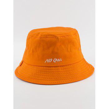 NO CAILL Embroidered Bucket Hat - Orange