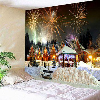 Christmas Fireworks Party Patterned Wall Art Tapestry - COLORFUL COLORFUL