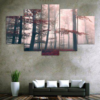 Fog Maple Forest Print Unframed Canvas Paintings