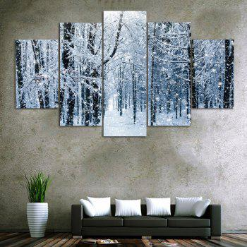 Snow Forest Print Unframed Canvas Paintings