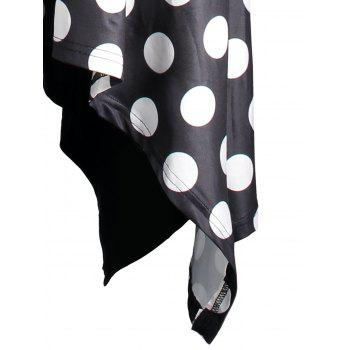 Polka Dot Plus Size Open Shoulder Dress - BLACK 5XL