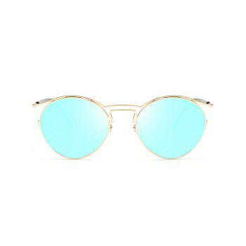 Metallic Frame Pilot Shades Sunglasses -  GOLDEN/ICE BLUE