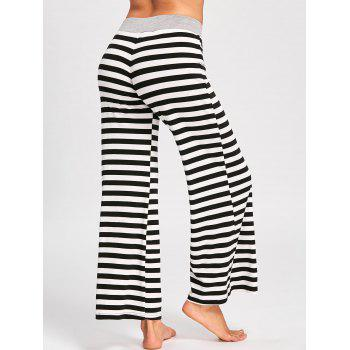 Drawstring Striped Jersey Palazzo Pants - 2XL 2XL