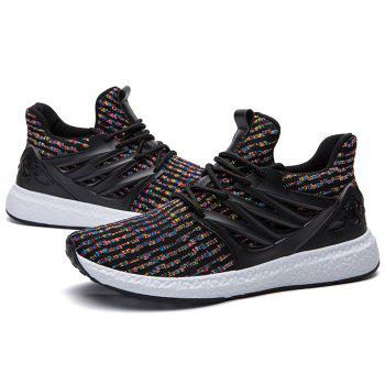 Breathable Lace Up Striped Casual Shoes - COLORFUL 42