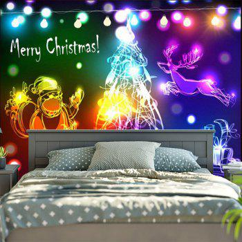Wall Decorative Christmas Graphic Tapestry - COLORFUL W79 INCH * L59 INCH
